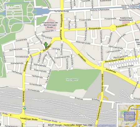 Karte München - (c) Google Maps